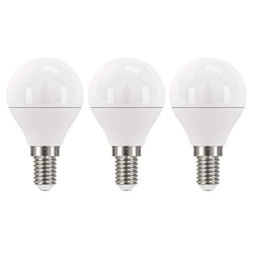 EMOS LED-Lampe 6W / A+ / ersetzt 40W Glühbirne / E14-Sockel / 470lm / Warmweiß – 2700K / Mini Globe G45 / 30000 Stunden Lebensdauer / 3er Pack