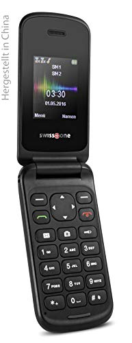 swisstone SC 330 Dual SIM Handy (4,3 cm (1,7 Zoll), mit extra großem beleuchtetem, Farbdisplay) rot