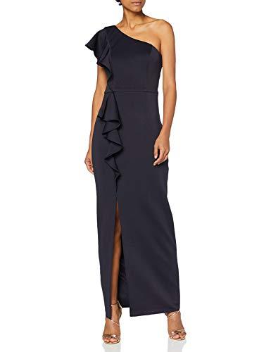 Chi Chi London Damen Chi Louisia Dress Kleid, blau, 42