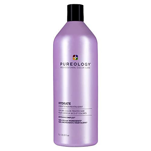 Pureology Hydrate Conditioner | For Dry, Color-Treated Hair | Moisturizes Hair & Protects Color | Sulfate-Free | Vegan | Updated Packaging | 33.8 Fl. Oz