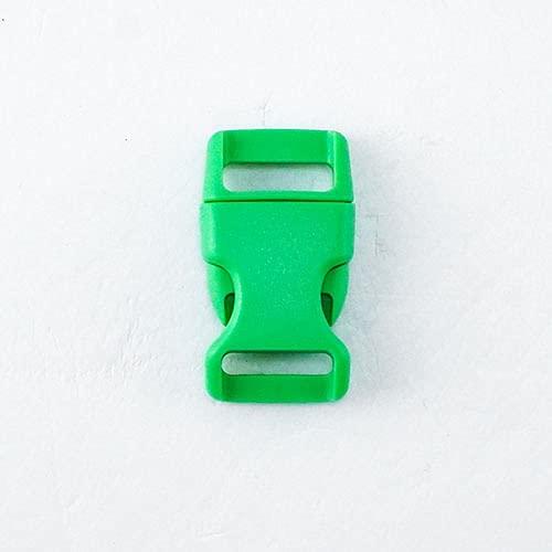 Venta al por menor de pintura en aerosol cierre de plástico liberación lateral rápida para correas de 15 mm diy collar de perro accesorio hebilla 17 colores-15 mm, verde