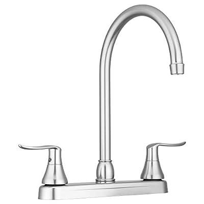 Dura Faucet DF-PK330HLH-SN RV Elegant J-Spout Kitchen Sink Faucet (Brushed Satin Nickel) by Dura Faucet