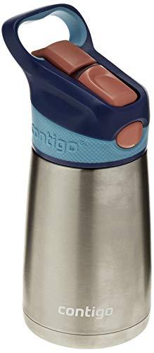 Garrafa Térmica Inox Infantil com Bico e Canudo Retrátil, Contigo, Azul, 295ML