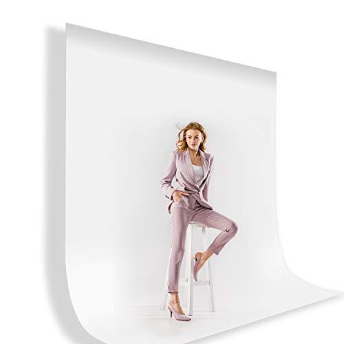 Julius Studio 10 ft. X 12 ft. Long Life Time Reusable White Screen Chromakey Photo Video Photography Studio Fabric Backdrop, Background, Pure White Muslin, Photography Studio, JSAG208