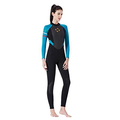 Muta Donna Surf Wetsuit Tuta Termico Mare Monopezzo Rash Guard Sub Immersioni Scubacquea Kayak Anti UV Solare Protezione Spiaggia Estivi Windsurf Ultrastretch Sportivi Abbigliamento/Blu,M