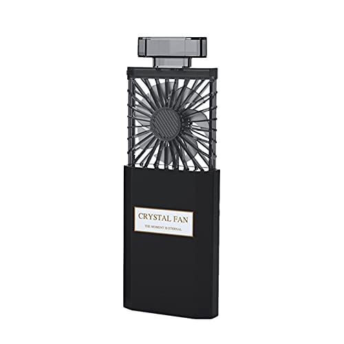 Frotox Mini Ventilador portátil Recargable portátil retráctil de 3 velocidades con Aroma Ventiladores personales Ventilador de Escritorio eléctrico con Pilas pequeño para Viajes de Oficina en casa