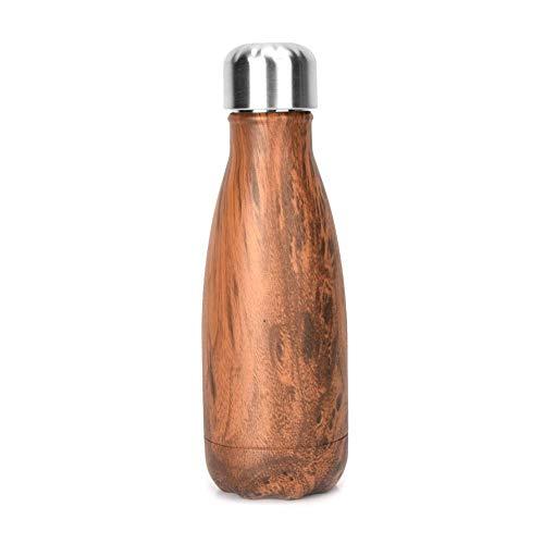 Wifehelper Botella de Acero Inoxidable Coca Cola Portátil Café Té Deportes Taza de Vacío Frascos Térmicos Aislamiento Botella de Agua para el Hogar Escuela Oficina al Aire Libre(Log)