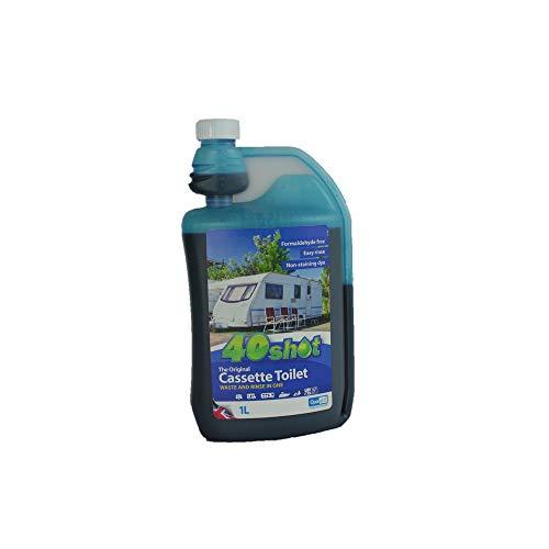 Qualkem 40 Shot x Caravan Portable Cassette Toilet Chemical Fluid