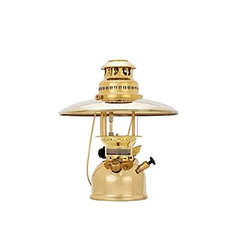XIAOSAKU Lámpara de keroseno lámpara de vaporización Retro de latón Camping lámpara de Vapor portátil lámpara de ferrocarril al Aire Libre lámpara (Size : B)