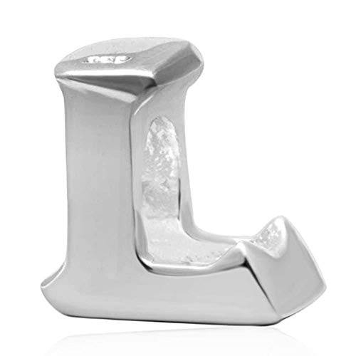 Charm-Anhänger 925er-Sterlingsilber, Buchstabe E, für Pandora-Armbänder L