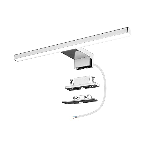 Azhien Lámpara de Espejo Baño LED 5W 30cm 400LM, Blanco Neutro 4000K LED Armario Lámpara Luz de Pared IP44 230V Aplique de Baño Espejo 300x14x14mm
