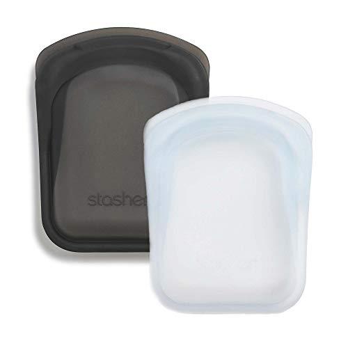 silicone per proteggere i dispositivi elettronici//organizzazione//viaggiare Borsa per snack riutilizzabile in platino per alimenti menta Stasher 917 11,45 x 19,05 cm