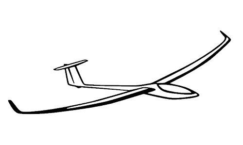 Generic Segelflieger Aufkleber in 10cm 15cm Segelflugzeug Aufkleber (116/6) (10cm, Silbergrau Glanz)