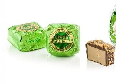 Venchi Schokolade Chocaviar Crème mit Pistazie, glutenfrei, Beutel mit 10 St.
