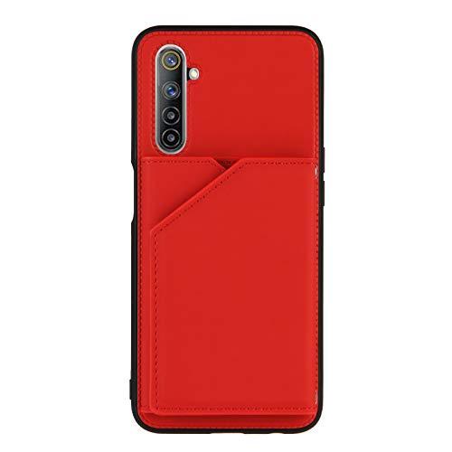 Schutzhülle für Oppo Realme 6, Kreditkartenfächer, Rot
