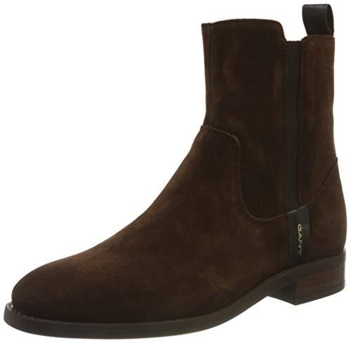 GANT FOOTWEAR Damen FAYY Mode-Stiefel, Dark Brown, 42 EU
