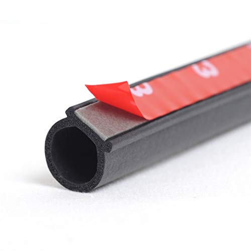 FFLSDR Car Door Weatherstrip 4 Meter Auto Door Sealing Strip Big D Type Rubber Seals Anti-Noise (Color : 8meter Big D)