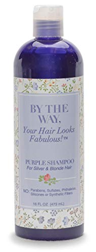Purple Shampoo by The BTW Co. for Silver, Gray and Blonde Hair: Brighten and Remove Yellowing or Brassy Tones with No Sulfates, No Parabens – 16 ounce – Cruelty-Free for Color-Treated and Natural Hair