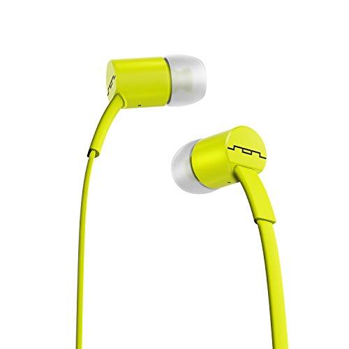 SOL Republic Jax In-Ear Kopfhörer, Geräuschisolierende, kabellose Ohrhörer mit Mikrofon + 1-Knopf-Steuerung, hochwertiger Klang mit kräftigem Bass, 4 Ohrstöpselgrößen für ideale Passform, lime