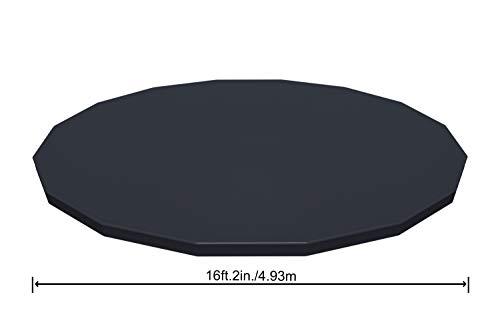 Bestway 56666 Piscine hors sol Power Steel™ effet rotin diamètre 488 x 122 cm, filtre à cartouche skimatic, bâche, échelle