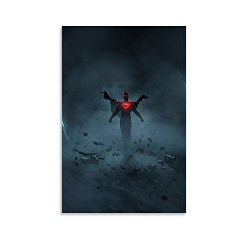 NUOMANAN Canvas wall art painting Superman Justice League Comics (2) 08x12inch(20x30cm) Art Poster Wall Art Decoration for Living Room BedroomModernHomeDecor Unframed/Frameable
