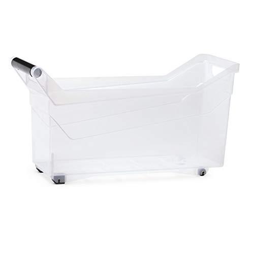 Prosper plast Boîte de Rangement à roulettes Transparent, NUK4L