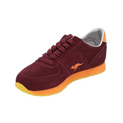 KangaROOS Combat Suede Damen Sneaker Rot Turn-Schuhe Sport Lauf Schuhe, Größe:EUR 39 (UK 6)