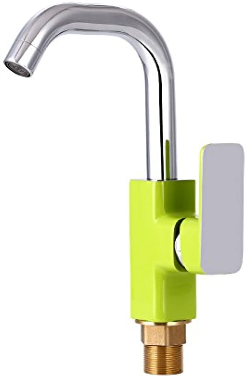 Hlluya Professional Sink Mixer Tap Kitchen Faucet Enamel paint water faucet hot and cold mixing valve basin universal