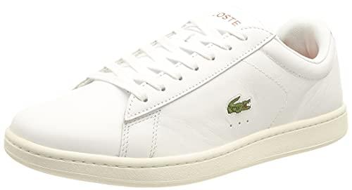 Lacoste Carnaby EVO 0121 1 SFA, Zapatillas Mujer, Wht/BRW, 37.5 EU