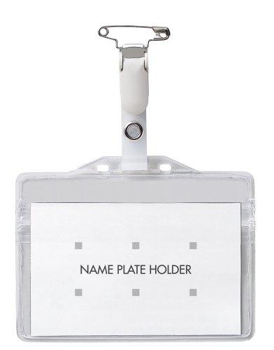 オープン工業 タッグ名札 プラクリップ 名刺サイズ 10枚入