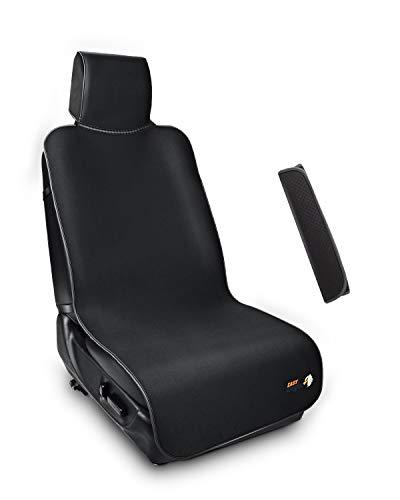 EASY EAGLE Schonbezüge für Autositze, Wasserfestem Auto Schonbezug mit verstellbaren Streifen+Autositzgurt-Bezug
