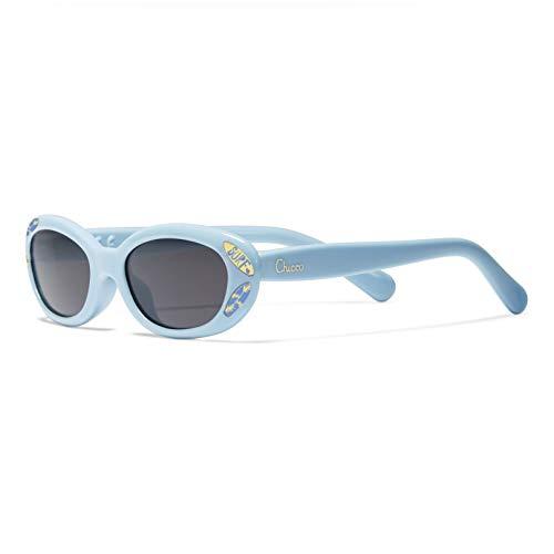 Chicco - Gafas de Sol Infantiles Para Bebés De 0 meses, Con Montura flexible y Lentes Anti Arañazos, Color Azul, Estampado Surf