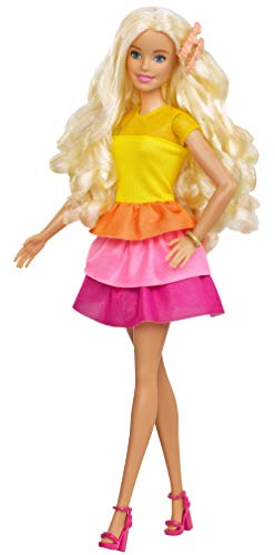 Barbie GBK24 - Lalka w stylu loków (blond) z lokówką i akcesoriami, zabawka dla lalek od 5 lat