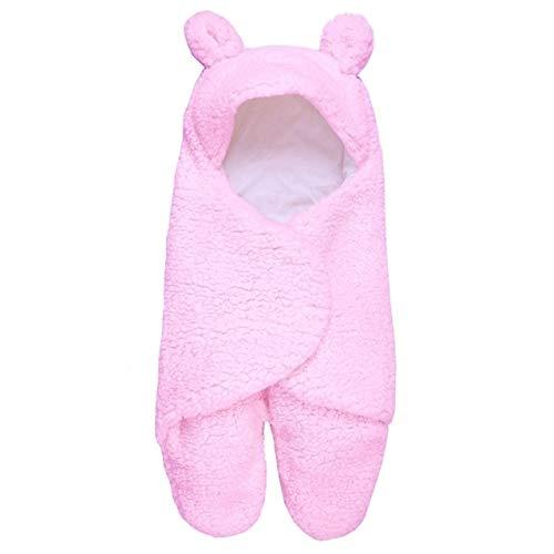 Productos para bebés Saco de dormir para bebé Newborn Leg Warmer Plus Velvet Edredón Productos para bebés (Color : Rosado)