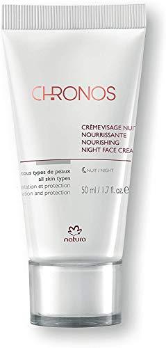 NATURA - Crème Visage Nuit Nourissante Chronos - Pour Tous Types de Peaux - Hydrate et Protège la Peau de l'Action des Radicaux Libres - Usage Quotidien - 100% Vegan - Cruelty Free - 50 ml
