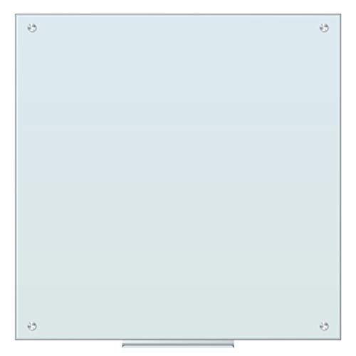 U Brands Magnetic Glass Dry Erase Board, Only for use with HIGH Energy Magnets, 35 x 35 Inches, White Frosted Surface, Frameless (2909U00-01)