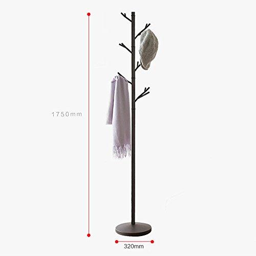 JXXDDQ Metal Tree Design Manteau Stand Chapeau Et Porte-Manteau Debout Arbre Libre Rail Vêtements Suspendus Organisateur De Stockage pour Entrée Couloir Couloir Chambre Garde-Robe 175 CM / 68.9