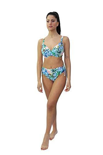 Lidea Bikini Badeanzug fur Frauen Mod. 7581 dess. 772 Col. 135 Blue-Aquatic (DE 40E, 135 Blue-Aquatic)
