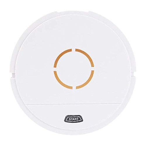 Best Deals! Robot Vacuum Cleaner, Free Side Brushes&Filter,Self-Charging Robotic Vacuum Cleaner ,Cleans Hard Floor and Thin Carpet (Color : White)