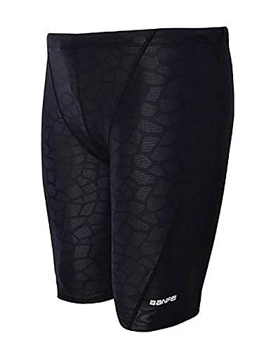 Easea Men`s Rapid Swim Splice Quick Dry Jammer Swimsuit Black Prints 4X-Large