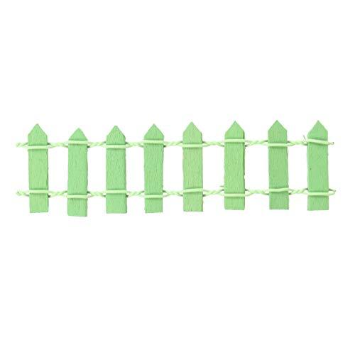 NICEXMAS Petite clôture en Bois pour Jardin de poupées Miniature Décoration de Pot de Fleurs Bonsaï (Vert)