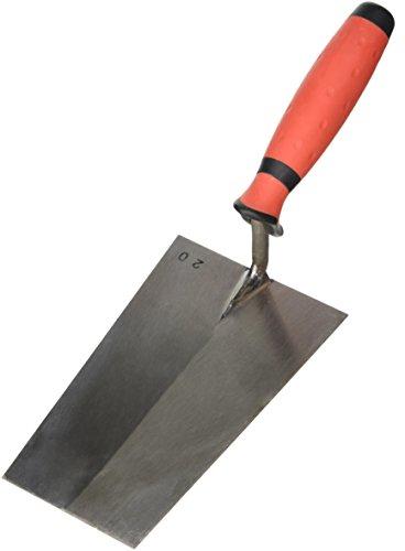 Stubai 4260022K Triol Truelle Suisse avec Manche Bi Matière Angulaire, Argent/Rouge/Noir, 200 mm