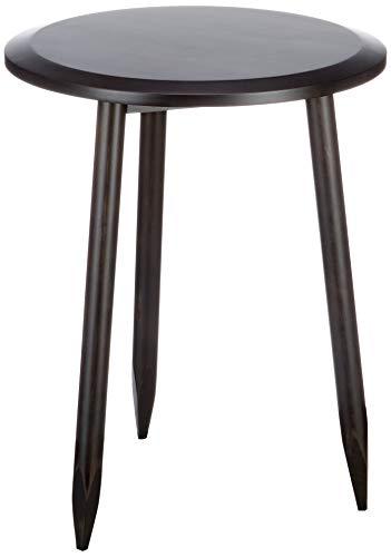 Marca Amazon - Movian Đerdap - Mesita auxiliar de abedul macizo, 46 x 46 x 58,5 cm, negro