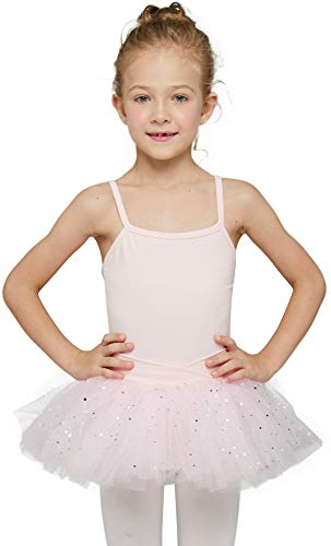 MdnMd Ballet Dance Leotard with Tutu Ballerina Dress Ballet Outfit for Little Girls Toddler (Ballet Pink, Age 4-6, 4t, 5t)