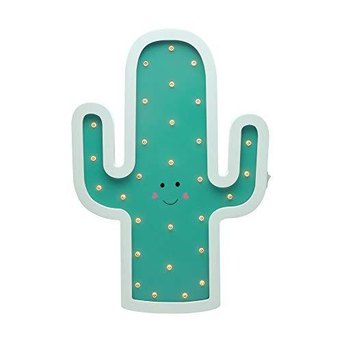 Pauleen 48048 Lovely Cactus lamp Wandlampe Kaktus für Kinder LED Kinderzimmerlampe kabellos, mit Kippschalter