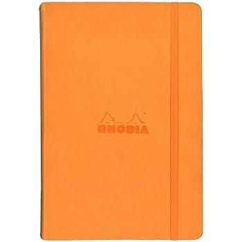 ☆ロディア(RHODIA)☆Webnotebook【Webbie】ウェブノートブック/ドット方眼/A5/オレンジ-cf118768