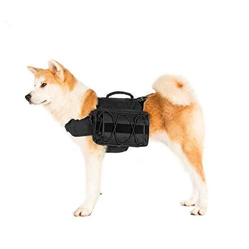 Hunderucksack, Hunderucksack, Hunde-Pack-Wanderausrüstung, abnehmbare Satteltasche Rucksack Hound for Reisen Camping Wandern Medium Multifunktionale Hundetasche ( Farbe : Schwarz , Größe : 32x25x7cm )