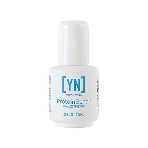 Young Nails Protein Bond Non-Acid Adhesion Corrosion-Free Nail Primer Fast Drying, Use as First Step in Nail Care Process Anchor for Gel, Polish + Acrylic Keratin Bonder 0.25 fl oz