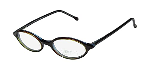 United Colors Of Benetton 349 Designed For Young Women/Girls Classic Shape Eyeglasses/Eye Glasses (46-18-140, Cranberry Mint)