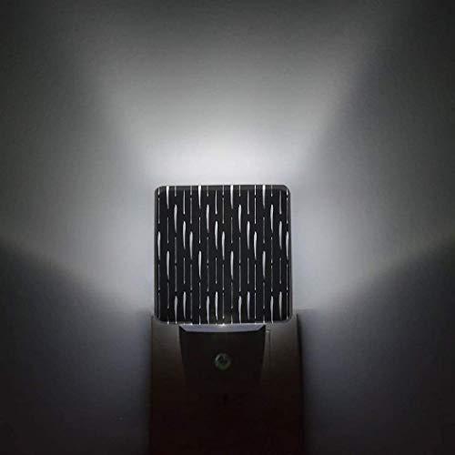 Sensor automático de rayas,paquete de 2 luces nocturnas que se conectan a la pared Spring Love Cherry Bolssom,baño,inodoro,dormitorio,pasillo,decoración brillante,luces nocturnas cuadradas para niños